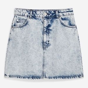 TopShop Acid Wash Denim Skirt Size 4
